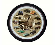 "FORD TRUCK 100th Anniversary 13"" WALL CLOCK, An Engine Sounds Off Each Hour"