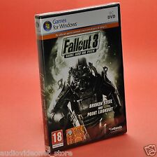 FALLOUT 3 ADD-ON PACK BROKEN STEEL + POINT LOOKOUT PC - 2 ESPANSIONI nuovo