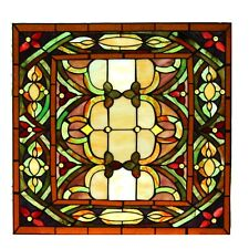 Stained Glass Panel Stunning Colors Window Pane Leaded Glass