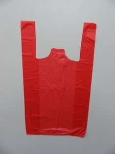 """RED Vest Carrier  12"""" x 18"""" x 24""""  Pack 100"""