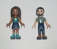 Lego ® Lot x2 Minifig Figurine Mini Poupée Friends Steve + Andrea NEW