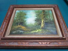 "H-GAILEY ""FOREST"" OIL-PAINTING-ON-CANVAS-FRAMED-ORIGINAL"