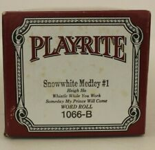 More details for play-rite pianola long play word roll: snow white medley no.1