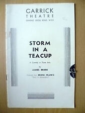 Garrick Theatre Programme- STORM IN A TEA CUP by James Bridie