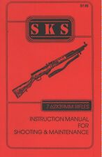 SKS Rifle 20 PAGE MANUAL COVERS MAINTENANCE SHOOTING & INSTRUCTION *BEST BUY!