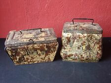 Pair of Antique French Tins