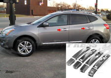 fit:2008-2013 Nissan Rouge 4 Door Chrome Handle Covers No PSKH w/Smart Keyhole