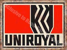 Uniroyal Tyres, Vintage Garage Advert 194, Motorsport Oil, Large Metal Tin Sign