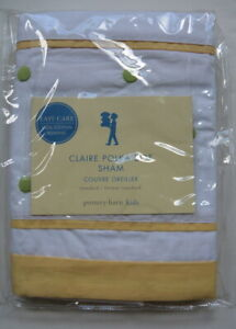 Pottery Barn Kids Claire Polka Dot Sham Embroidered White NIP New