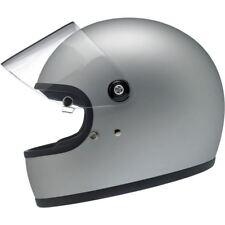 Biltwell Gringo S Motorcycle Helmet - Flat Silver - 2X XXL XXLarge