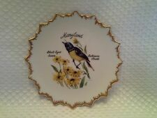 Old Line State! Vintage Porcelain Maryland State Bird and State Flower Plate 5""