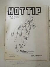 Williams Hot Tip Pinball Manual & Schematics