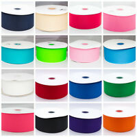 "Solid Grosgrain Ribbon 3"" 75mm 1 3 5 Metre Lengths"