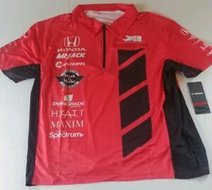 Rahal Letterman Lanigan Unisex Team Issue Pit Polo 1/2 Zip Shirt NWT Small