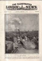 1916 London News February 12 - Harley Davidson; L-19 Zeppelin down; Canada burns