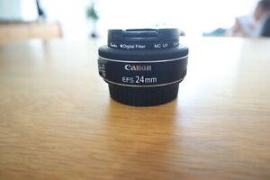 Canon EF-S 24mm f2.8 STM Pancake Wide Lens + Kenko UV Filter