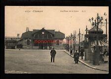 FRANCE CLAMART LA PLACE DE LA GARE RAILWAY STATION BAHNHOF POSTCARD 1907 - FR298