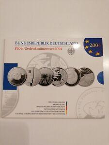 10-€-Silber-Gedenkmünzenset 2004, Spiegelglanz, PP, im Originalblister