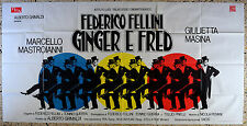 MANIFESTO 6F GINGER E FRED FEDERICO FELLINI MARCELLO MASTROIANNI MASINA