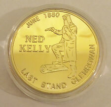 "2014 Ned Kelly ""last Stand"" Certified 1 Oz Coin Finished in 24k 999 Gold"