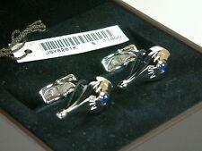 NIB New A.Dunhill Blue Sapphire 925 Sterling Silver Cufflinks
