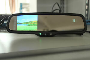 """Rearview mirror 3.5""""LCD display,fits Ford,GM,Toyota,Nissan, compass+temperature"""