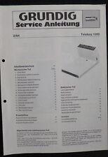ORIGINALE GRUNDIG Service Manual Teleboy 1000