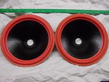"""12"""" Wet Look Speaker Cone with Red Foam Surround, 1.5""""VC hole, 3-3/8""""D, Lot of 2"""