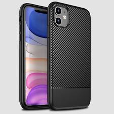 Carbon-Faser-Leder Kohlefaser Optik Handy Schutzhülle für Apple iPhone Serie