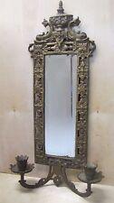 Antique Victorian Bradley & Hubbard Dauphin Bevel Mirror Candlesticks ornate B&H