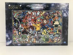 Pokemon Stained Glass Mosaic Puzzle 1000 Pieces Plastic Pikachu Jigsaw Puzzle