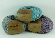 Adriafil Woca DK 50g 70% wool 30% hemp yarn VARIOUS SHADES