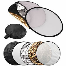 """24"""" 60cm 5 in 1 Photography Studio Multi Photo Disc Collapsible Light Reflector"""