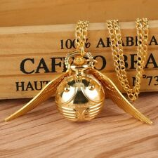 Harry Potter Gift boxed Golden Snitch Pocket Watch. Engraved and Iconic.