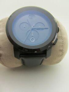 Men's Movado Bold Mb.01.1.29.6011 Black/Purple Chronograph Silicone Band 43mm
