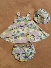 Gymboree Infant Girl Sundress, Bloomers and Hat, Size 3-6 Months