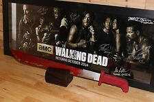 Rick Grimes Red Machete Prop/replica With Stand The Walking Dead