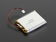 Lithium Ion Polymer 3.7v Rechargeable Battery 2500mAh 2-pin JST-PH connector by