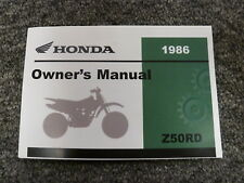 1986 Honda Z50RD Christmas Special Motorcycle Owner Operator Maintenance Manual