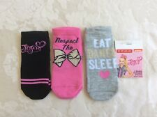 New JOJO SIWA Girls 3 Pairs of Trainer Socks Primark Age 3-6 Years / Size 9-12