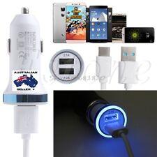 Dual 2 Port USB 2.1A 12V Car Socket Cigarette Lighter Adapter Charger + USB C