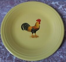 Dinner Plate - Sunflower Yellow w/ Chicken Leghorn Rooster - Fiesta USA