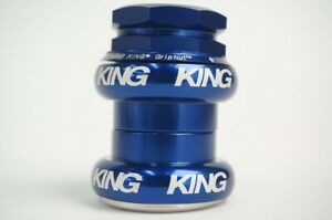 New CHRIS KING GripNut Threaded Headset 1-1/8inch NavyBlue HSB2N Free Shipping