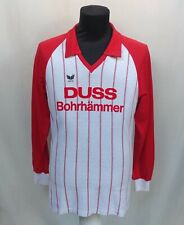 Vintage 80s #9 Match Worn Erima Duss Bohrhammer Football Shirt Sz M West Germany
