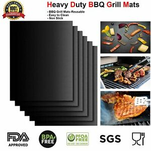 BBQ Grill Mat Non-Stick Oven Liners Teflon Cooking Baking Reusable Sheet Pad