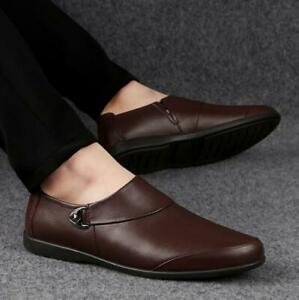 Mens Loafers Moccasin Driving Boat Casual Faux Leather Soft Shoes Slip On New
