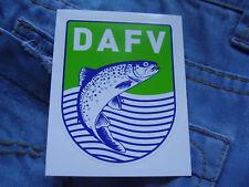 Aufkleber Deutscher Angelfischerverband DAFV Dachverband Angelfischer von 2013