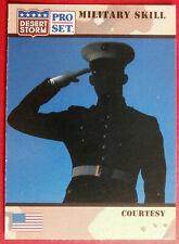 DESERT STORM - Card #154 - Military Skill: COURTESY - Pro-Set 1991