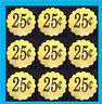 9  25 cent Scallop Vending Price Stickers vendstar candy gumball A+