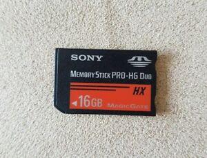 Official SONY Black 16GB Memory Stick PRO-HG Duo HX Magic Gate Genuine Card PSP